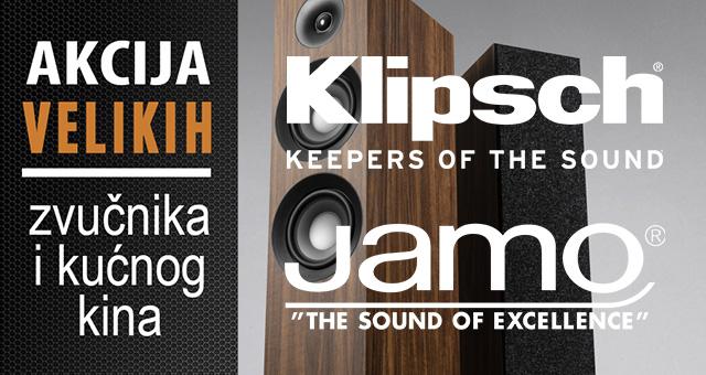 Klipsch – Jamo akcija velikih zvučnika i kućnog kina