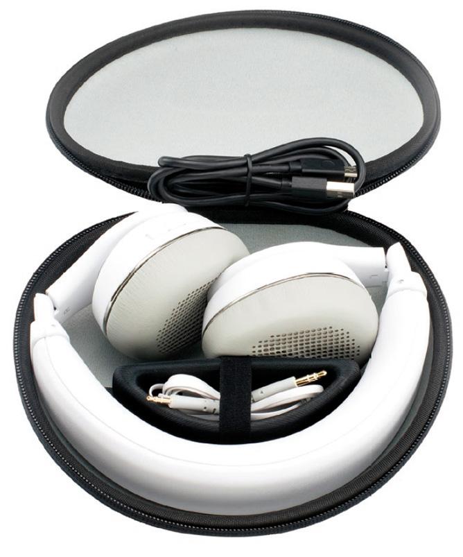 Čvrsta futrola za prenošenje poslužit će vam za ubacivanje sklopljenih slušalica i njihova kabela, koji će dobro doći u slučaju pražnjenja baterije