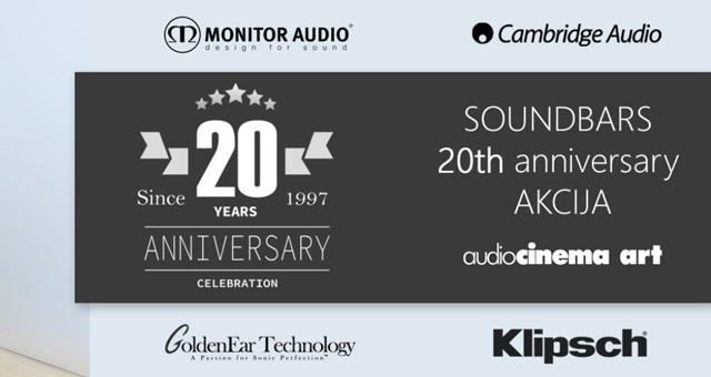 SOUND BARS 20th anniversary AKCIJA