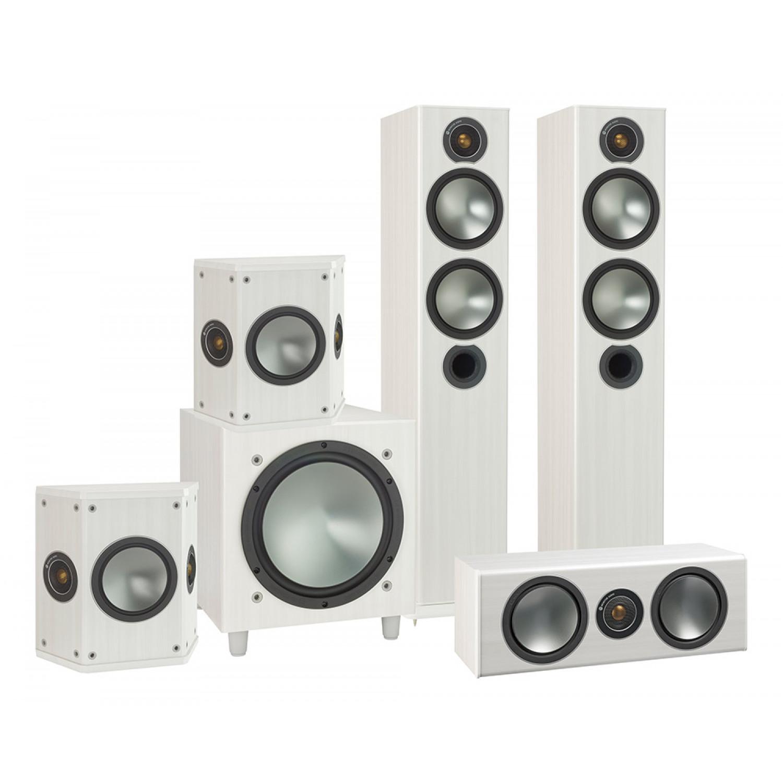 04 Monitor Audio bronze B5 AV bijeli komplet