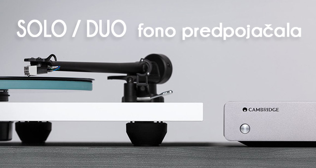 Cambridge Audio fono predpojačala Solo i Duo