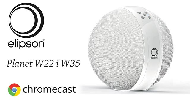 Elipson Planet Multiroom aktivni bežični zvučnici W22 i W35 – spremni za Google Cast
