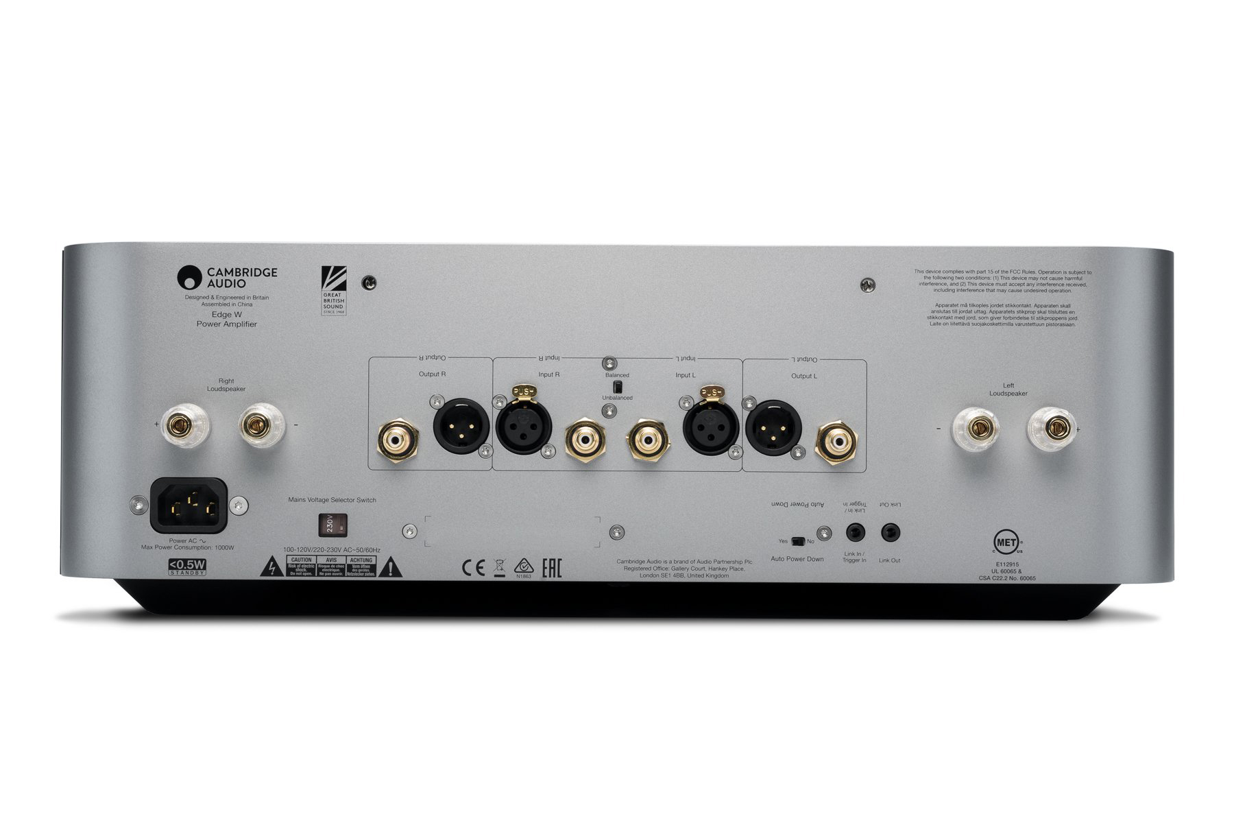 Cambridge Audio Edge W zadnja