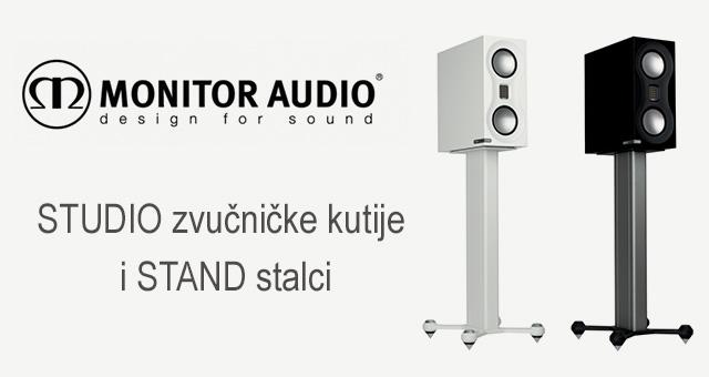 Monitor Audio STUDIO zvučničke kutije i STAND novi stalci