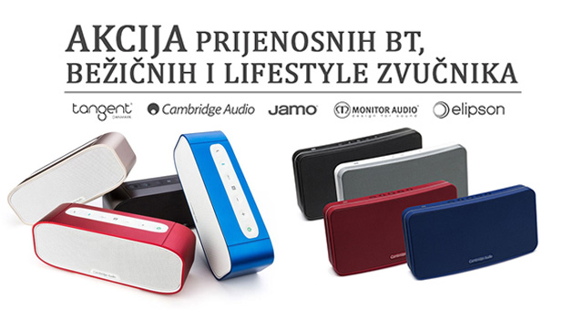 AKCIJA prijenosnih BT, bežičnih zvučnika i lifestyle zvučnika