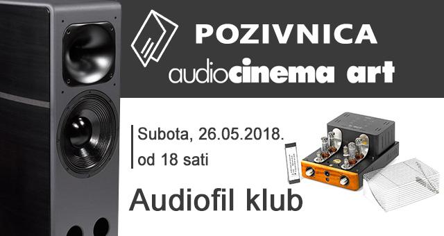 Audiocinema Art pozivnica – Subota, 26.05.2018. od 18 sati