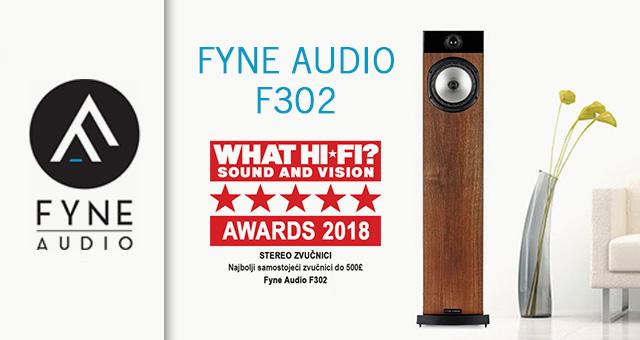 Fyne Audio F302 – What Hi-Fi? Nagrada za najbolji samostojeći zvučnik do 500£ u 2018. godini
