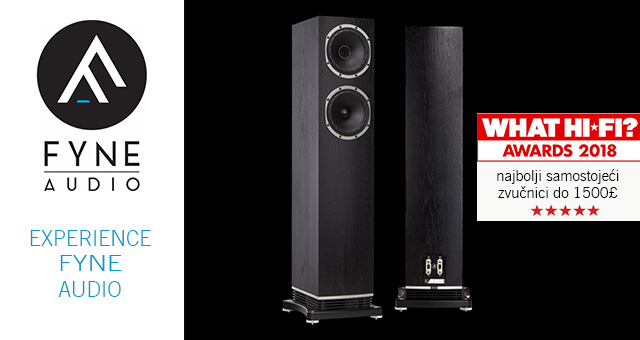 Fyne Audio F501 – What Hi-Fi? Nagrada za najbolji zvučnik do 1500£ u 2018. godini