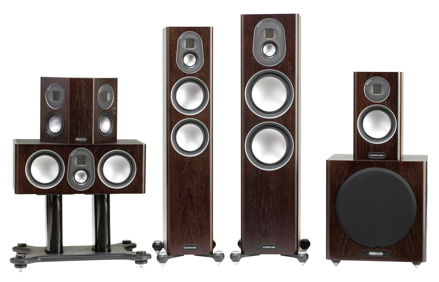 Monitor Audio Gold serija Walnut
