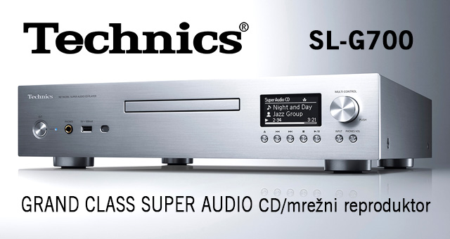 Technics Grand Class Super Audio CD/mrežni reproduktor SL-G700