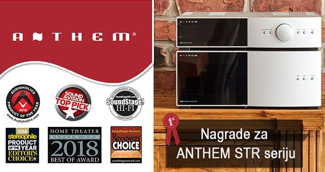 Anthem uređaji iz serije STR ovjenčani nagradama za 2018. godinu