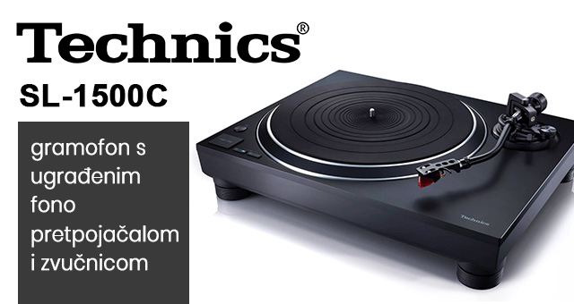 Technics SL-1500C gramofon s ugrađenim fono pretpojačalom i zvučnicom