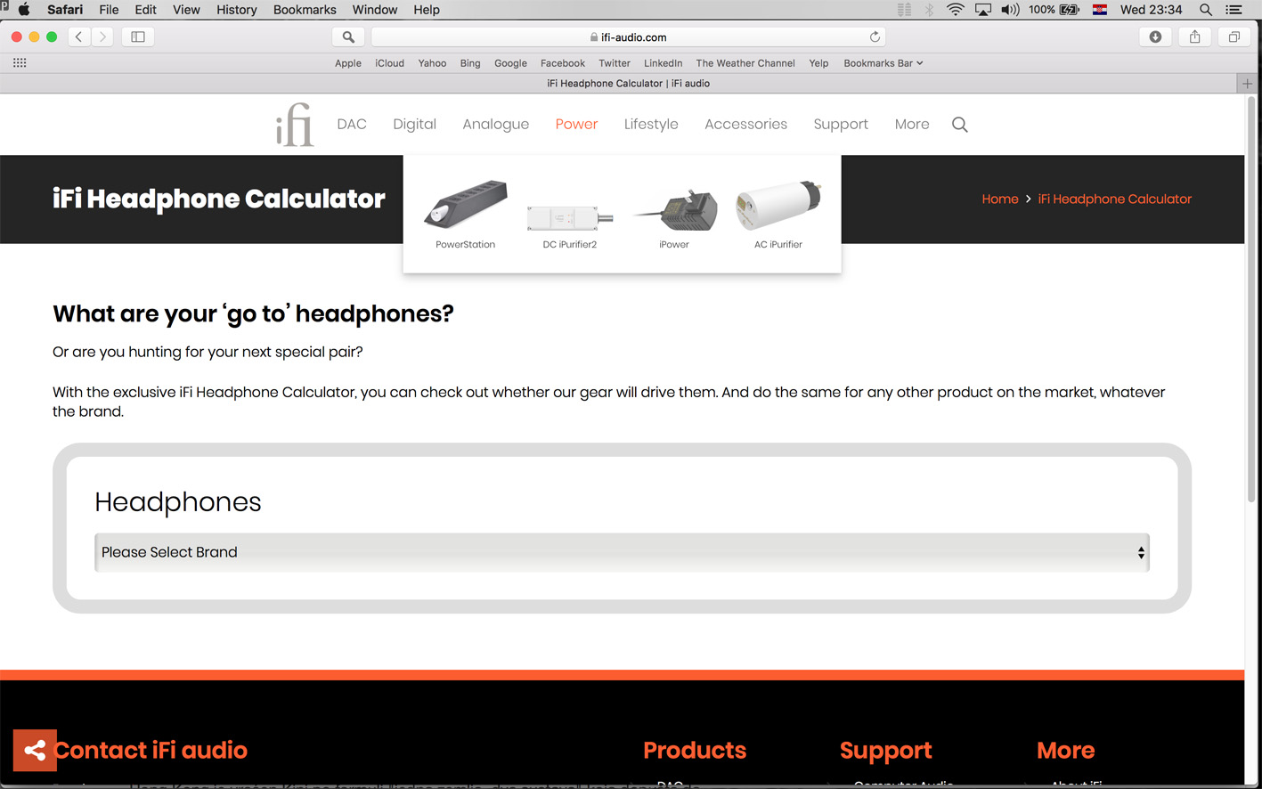 iFi Headphone Calculator power
