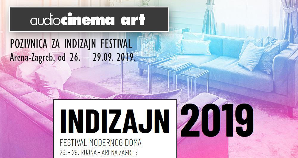 Pozivnica za InDizajn festival Arena-Zagreb, od 26. – 29.09. 2019.