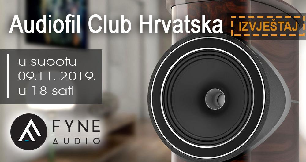 Audiofil klub Hrvatska – Premijera zvučnika Fyne Audio F1-10 09. studeni 2019. – izvještaj