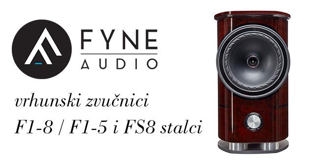 Fyne Audio F1 serije – vrhunski zvučnici F1-8 / F1-5 i FS8 stalci