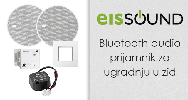 Eissound Bluetooth audio prijamnik za ugradnju u zid