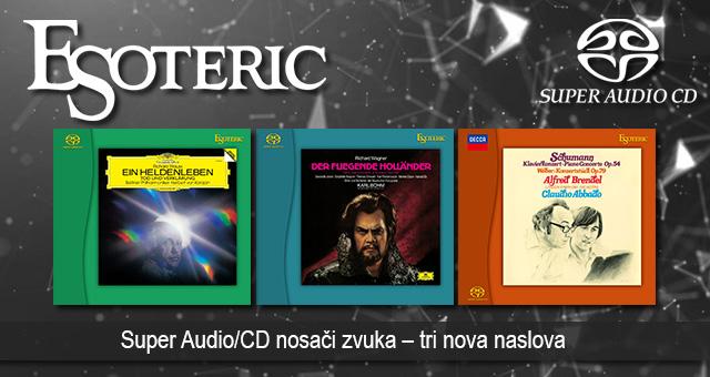 Esoteric Super Audio/CD nosači zvuka – tri nova naslova