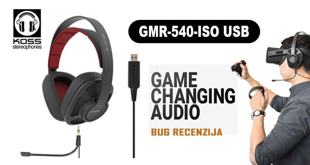 Koss GMR-540-ISO USB – Lagan poput pera