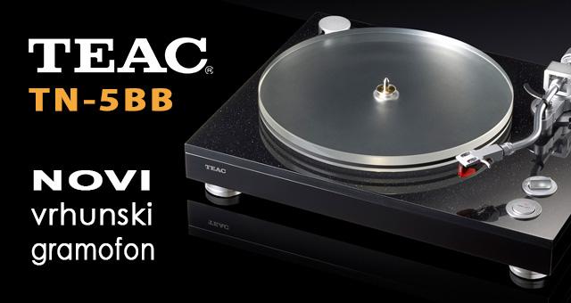 Teac TN-5BB – novi vrhunski gramofon s remenskim pogonom