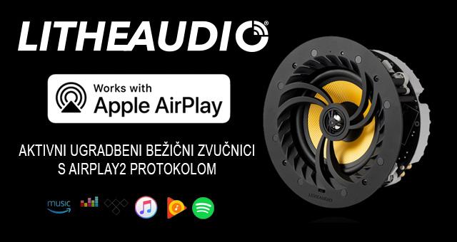 Lithe Audio – prvi stropni aktivni ugradbeni bežični zvučnici s AirPlay2 protokolom