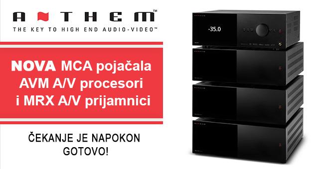 Anthem MCA pojačala, AVM A/V procesori i MRX A/V prijamnici –  čekanje je napokon gotovo