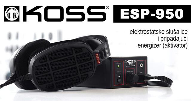 Koss ESP-950 – elektrostatske slušalice i pripadajući energizer (aktivator)