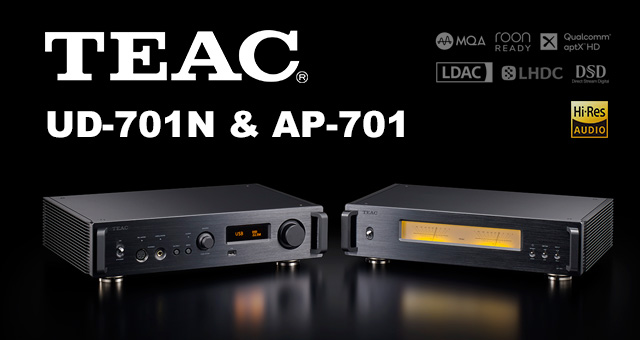 TEAC UD-701N mrežni reproduktor i TEAC AP-701 stereo pojačalo snage