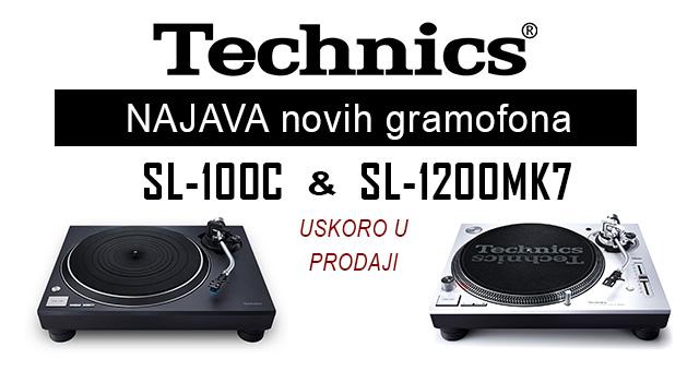 Technics novi gramofoni – SL-1200MK7 i SL-100C