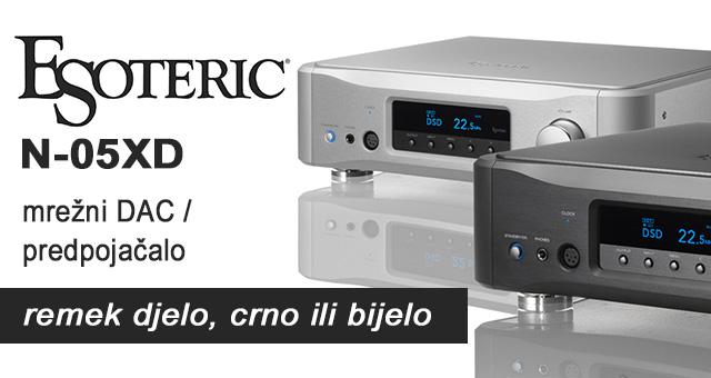 Esoteric N-05XD mrežni DAC / predpojačalo – remek djelo, crno ili bijelo