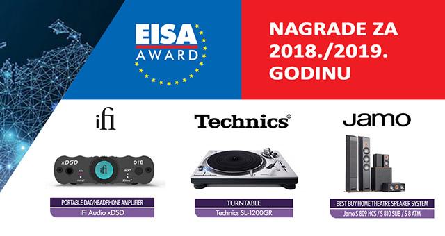 EISA nagrade za 2018./2019. godinu