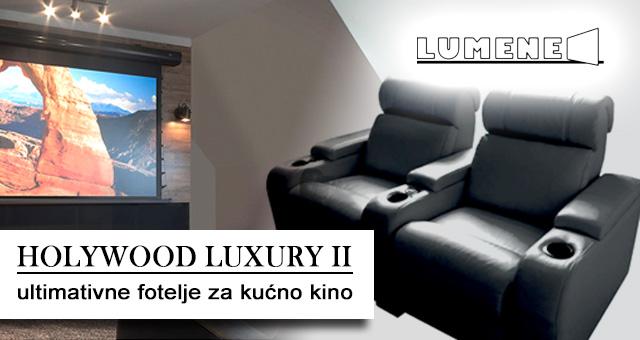 Lumene Holywood Luxury II ultimativne fotelje za kućno kino