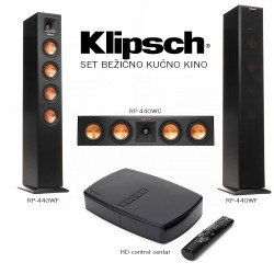 Klipsch bežićno kućno kino - HD control,  RP-440WC,  RP-440WF