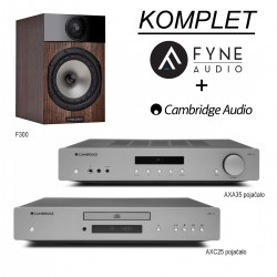 KOMPLET Cambridge Audio AXA35 + AXC25 + Fyne Audio F300
