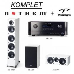 KOMPLET Anthem MRX 520 + Paradigm Monitor Atom SE + SE 6000F  + SE 2000C + POKLON