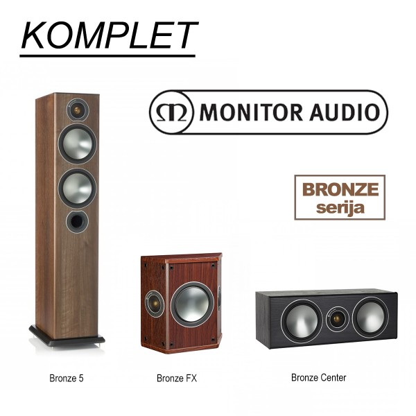 KOMPLET Monitor Audio Bronze 5 / FX / Centar