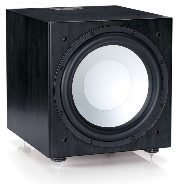 Silver RXW 12 - Powered Subwoofer - Black Oak