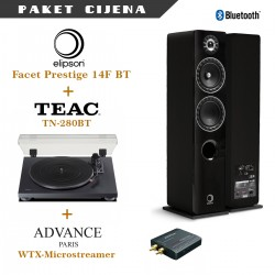 Elipson Facet Prestige 14F BT + Teac TN 280BT + Advance WTX Microstream