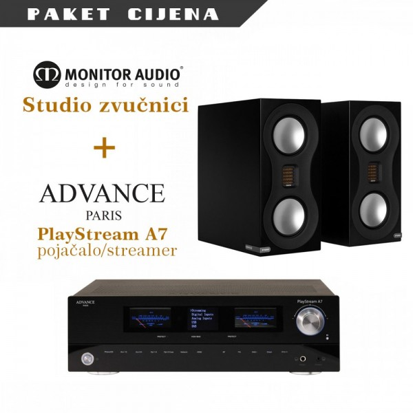 Advance Paris PlayStreamA7 + Monitor Audio Studio