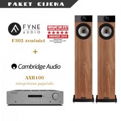 Cambridge Audio AXR100 + Fyne Audio F302