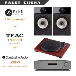 Cambridge Audio AXR85 + Fyne Audio F301 + TEAC TN-180BT gramofon