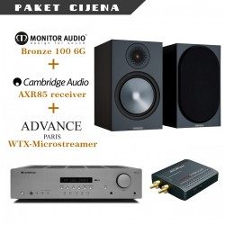 Cambridge Audio AXR85 + Advance WTX microstream + Monitor Audio Bronze 100 6G