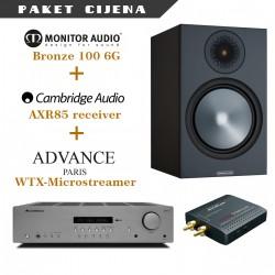 Cambridge AXR85 + Advance WTX microstream + Monitor Audio Bronze 100 6G