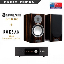 Roksan BLAK integrirano pojačalo + Monitor Audio Gold 100