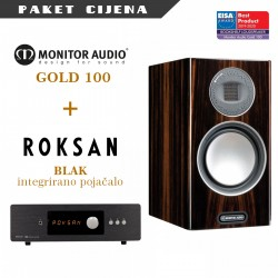 Roksan BLAK integrirano pojačalo + Monitor Audio Gold 100