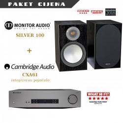 Cambridge Audio CXA61 + Monitor Audio Silver 100 (par)