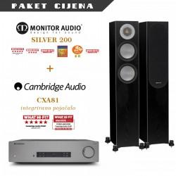 Cambridge Audio CXA81 + Monitor Audio Silver 200 (par)