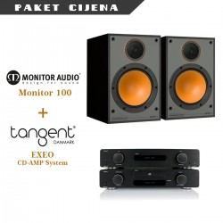 Tangent EXEO CD/pojačalo sistem + Monitor Audio M100