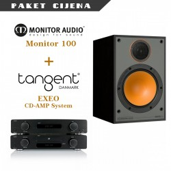 Tangent EXEO CD/pojačalo sistem + Monitor Audio M100