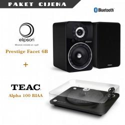 Elipson Prestige Facet 6BT + Elipson Alpha 100 RIAA gramofon